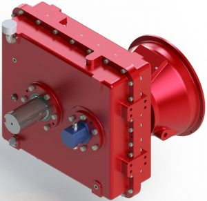 Custom gearbox used in reciprocating pump