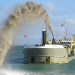Speed reducing gearbox used on dredge