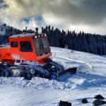Speed reducer used in ski slope grooming machines