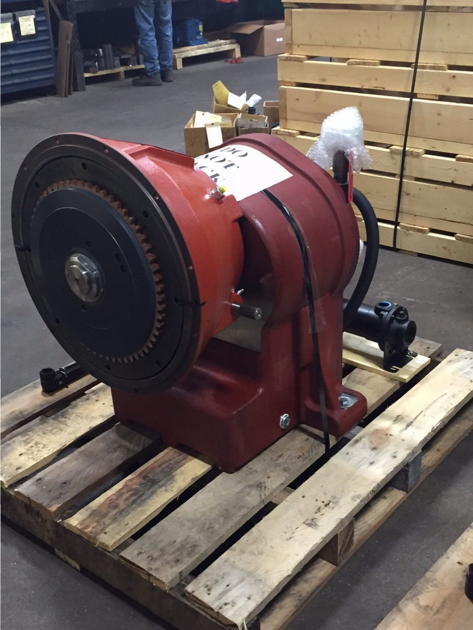 Gearbox for booster pump