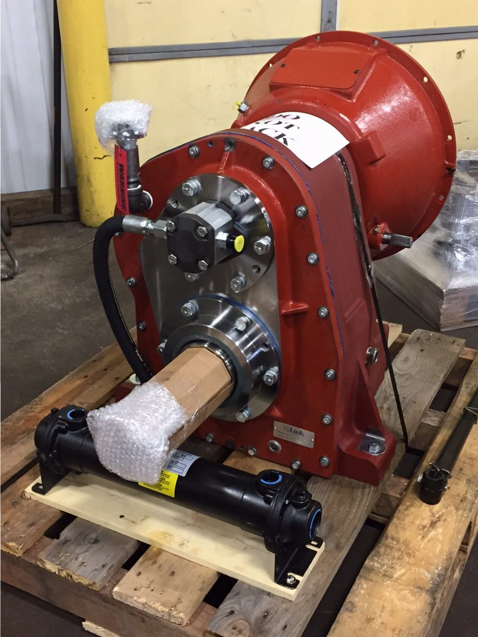 Custom gearbox for booster pump