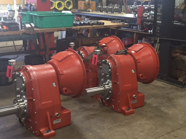 Gearboxes used in booster pumps