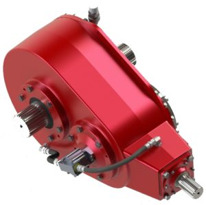 Crossed axis style gearbox