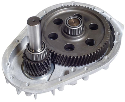 Internal components of a gearbox