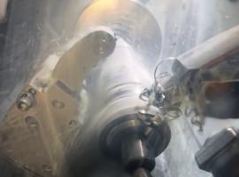 Machining a shaft