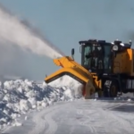 High speed airport snowblower