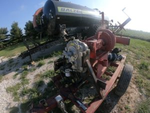 PTO gearbox being used in retrofit manure pump