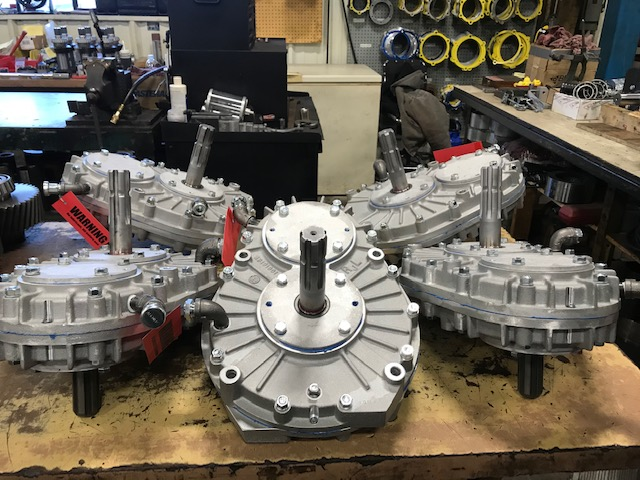 Speed Increaser Gearboxes in Aseembly